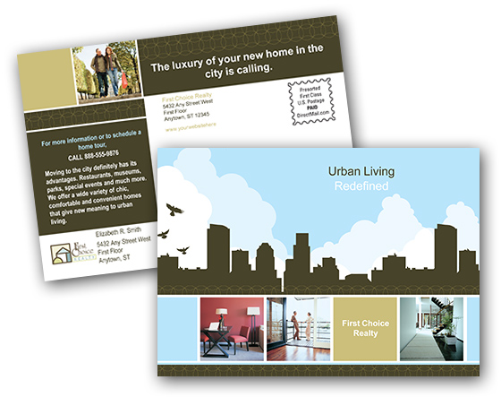 Direct mail postcards samples