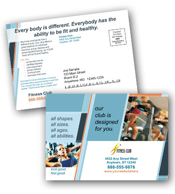 Postcard Printing - Print and Mail Fitness and Gym Postcards at ...