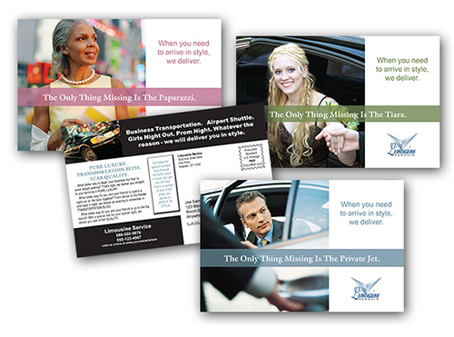 Postcard printing print and mail general business postcards at limo service arrive in style colourmoves